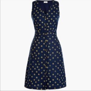 J Crew Factory Linen Dress V-Neck Button Down 4